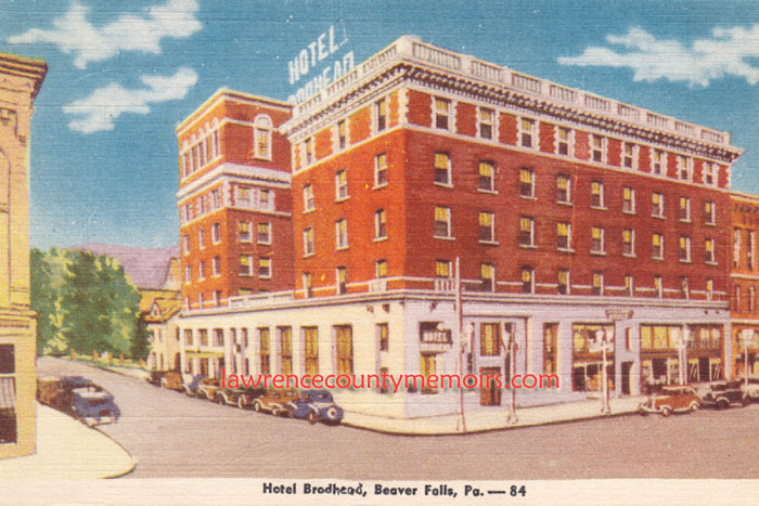 This Postcard Shows The Brodhead Hotel Which Sits On Main Thoroughfare Of Seventh Avenue In 1930 S