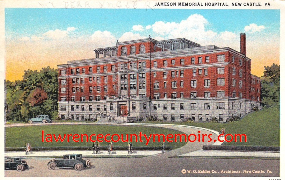 Lawrence County Memoirs City Hospitals New Castle Pa