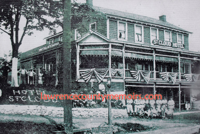Johnston House St Cloud Hotel Was The Center Of Activity In Homewood Junction And Located Just Near Por Scenic Spot Ermilk Falls